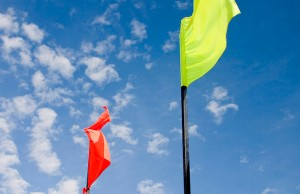 red and yellow flags